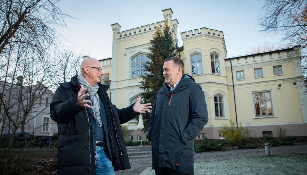 Terje Svabø og Jan-Erik Larsen ser fram til å samarbeide. Foto: Espen Solli