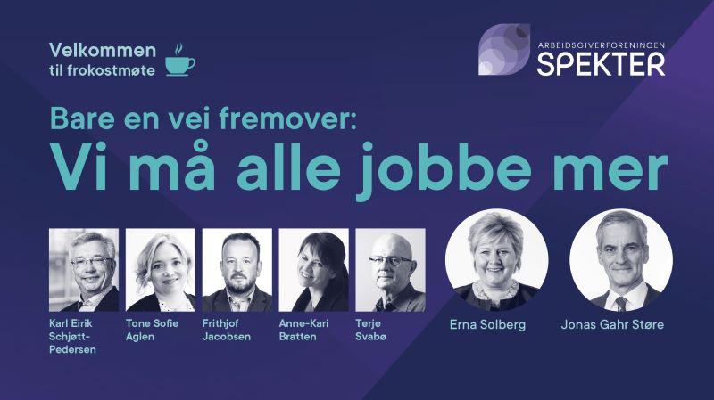 Spekter arrangerte et digitalt frokostmøte under ledelse av Terje Svabø, der Perspektivmeldingen var hovedtema.